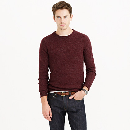 Slim rustic merino elbow-patch sweater
