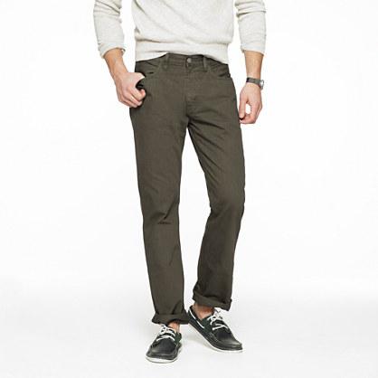 Slim-straight garment-dyed jean