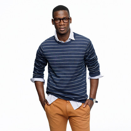 Merino sweater in pencil stripe