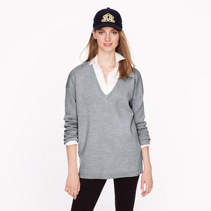 Oversize merino pocket sweater