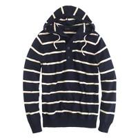 Wide-stripe hoodie