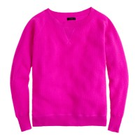 Collection cashmere Isabel waffle sweatshirt