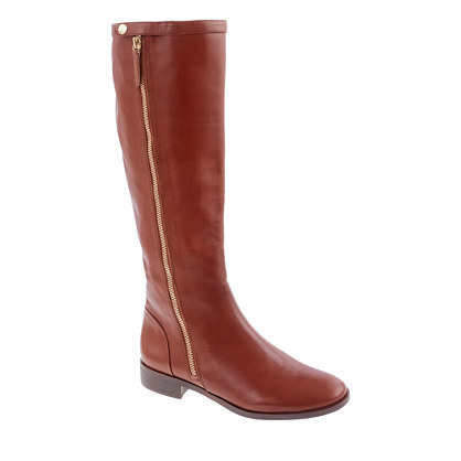 Harper leather boots with extended calf