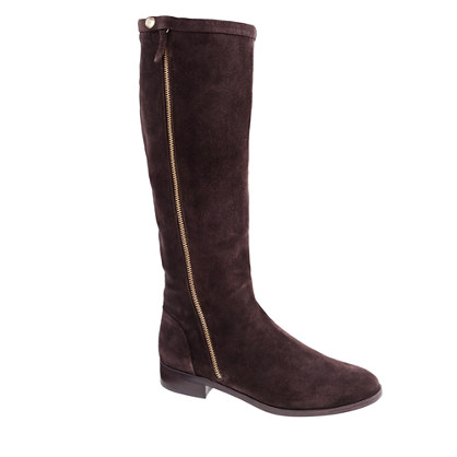 Harper suede boots with extended calf