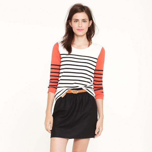 Colorblock stripe top
