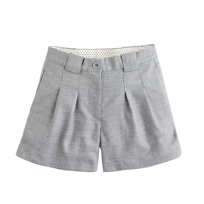 Girls' pleated flannel short