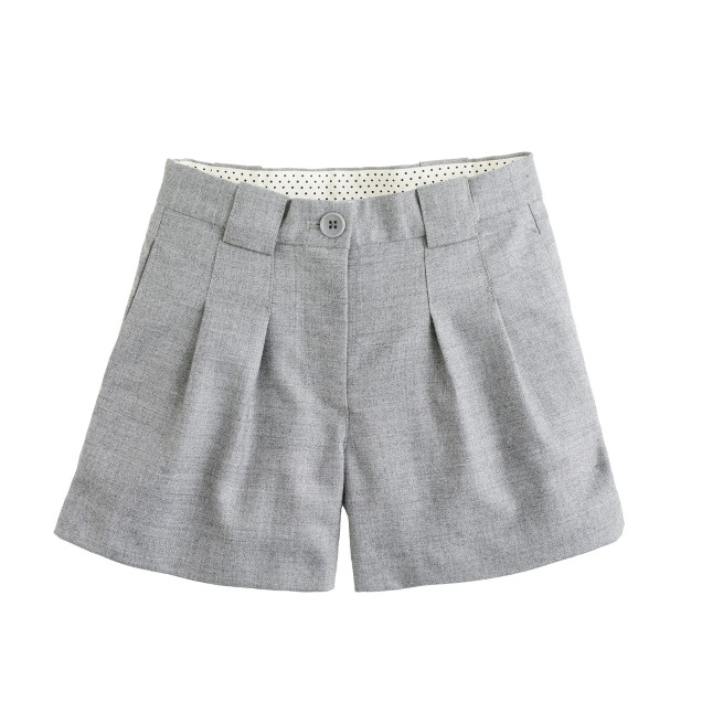 Girls' pleated flannel short