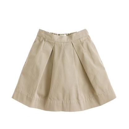 Girls' pleated chino skirt