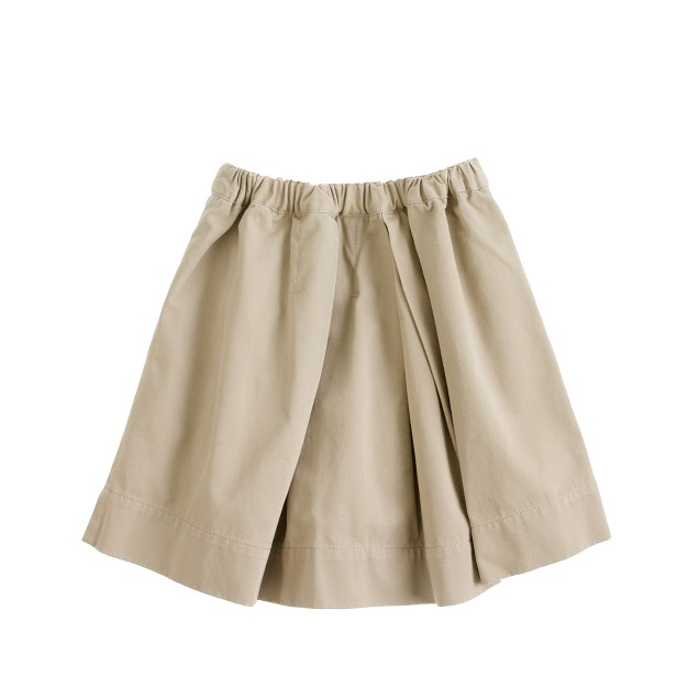 Girls' pleated chino skirt