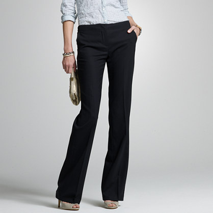 City-fit stretch wool bistro pant