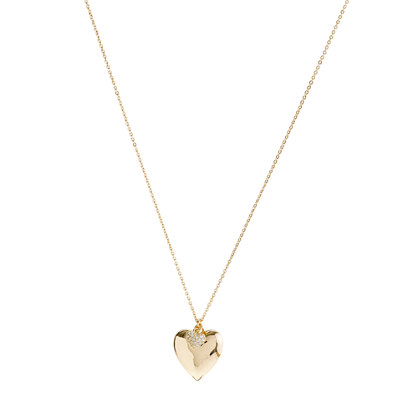 Girls' double heart necklace