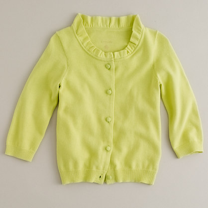 Girls' cotton Stella cardigan