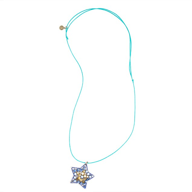 Girls' gem charm necklace
