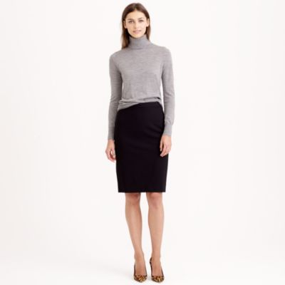Petite No. 2 Pencil Skirt In Double-Serge Wool : Women's Skirts ...
