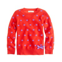 Girls' polka-dot cashmere sweater