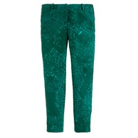 Tall Collection café capri in jade jacquard