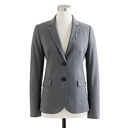 Petite 1035 two-button jacket in Italian stretch wool