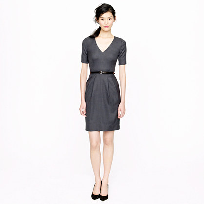 Memo dress in pinstripe Super 120s