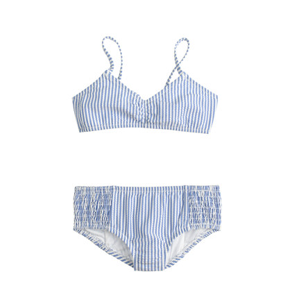 Girls' bikini set in seersucker