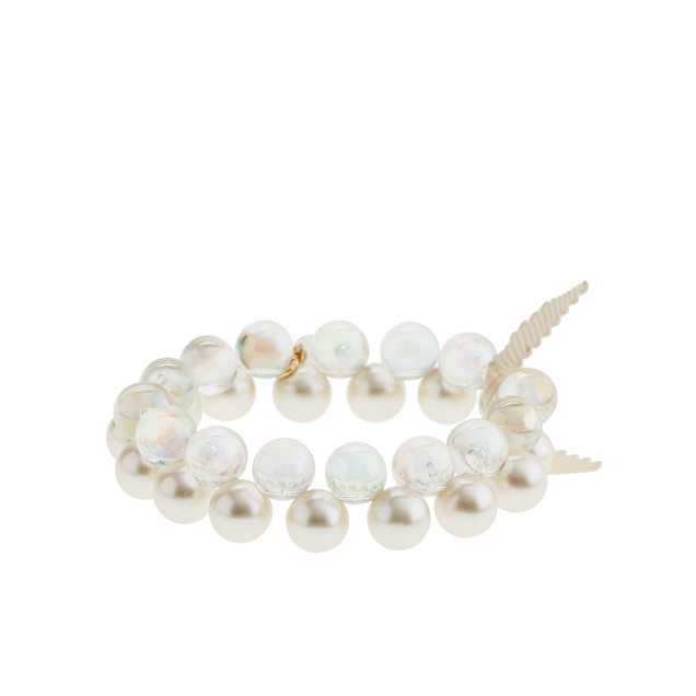 Girls' two-color pearl bauble bracelet