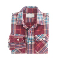 Boys' midweight shirt in maple flannel