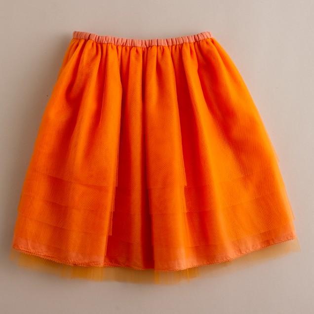Girls' tulle pixie ballet skirt