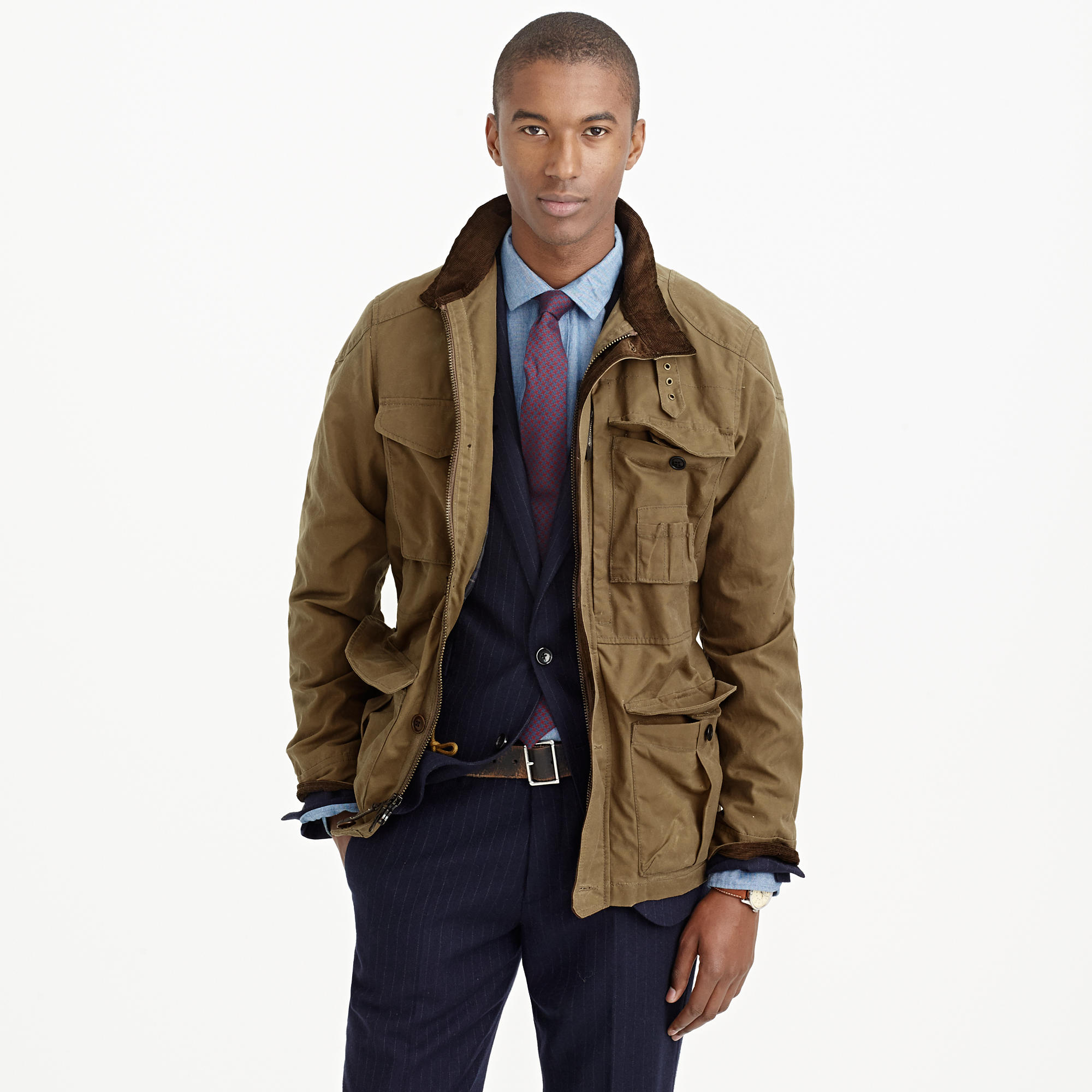 British millerain waxed cotton field jacket j crew for J crew mens outfits