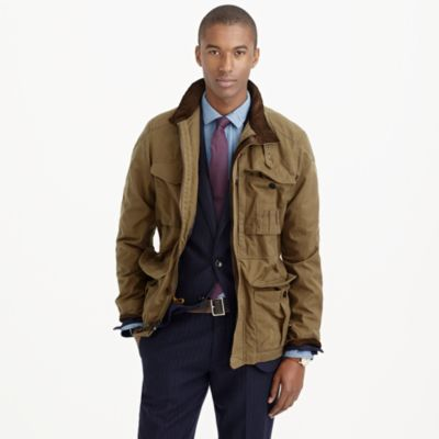 British Millerain® waxed cotton field jacket : | J.Crew
