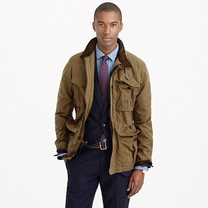 Tall British Millerain® waxed cotton field jacket