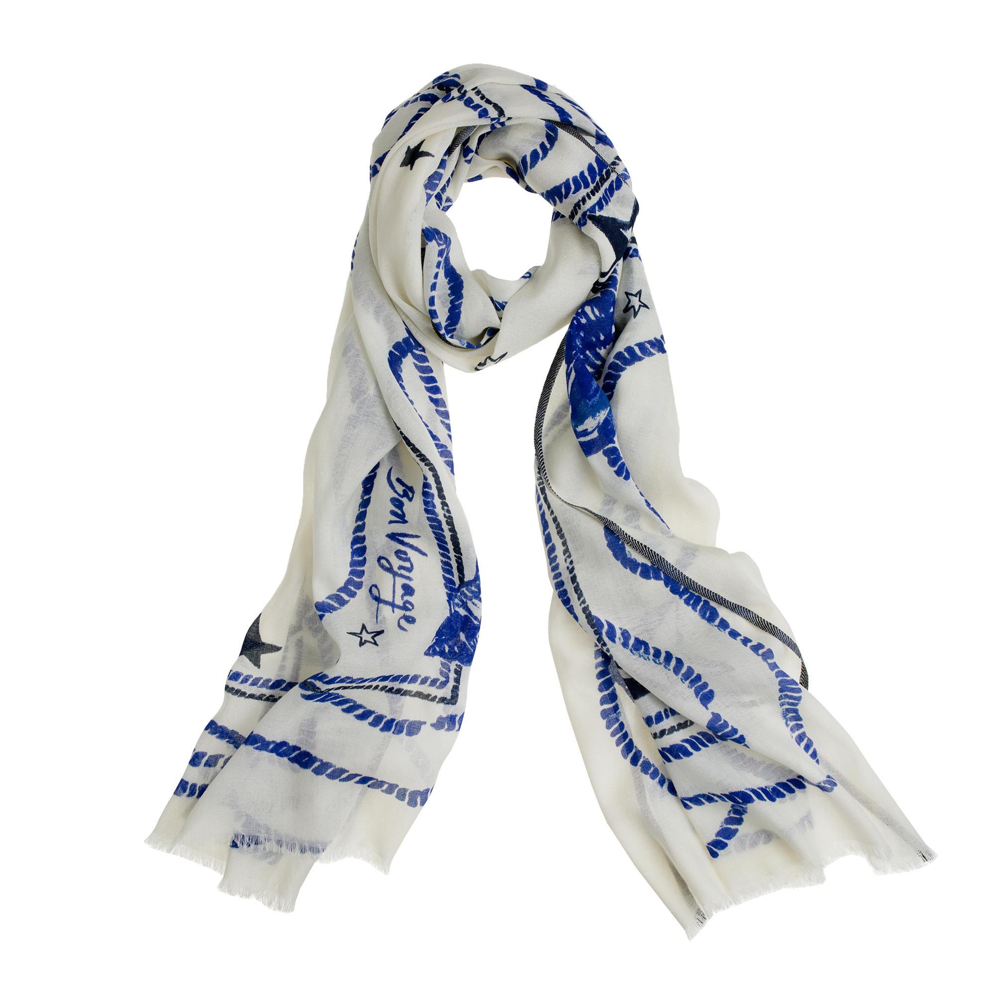 wool silk voyager scarf j crew