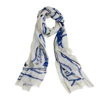 Wool-silk voyager scarf