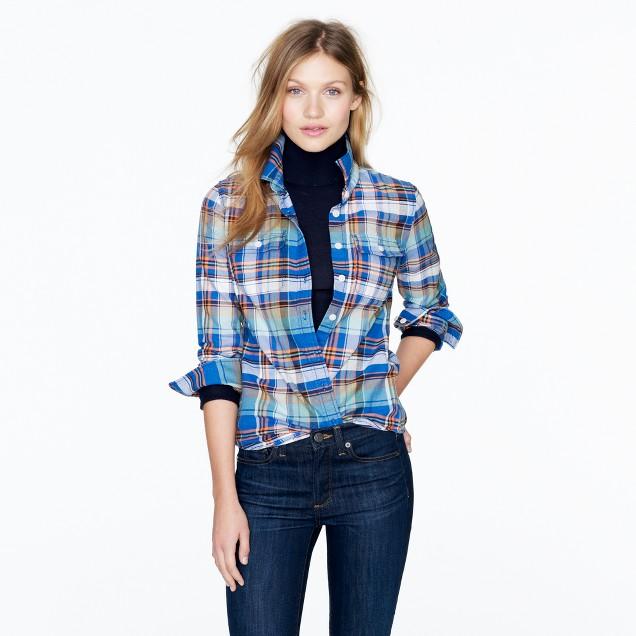 Tartan flannel shirt