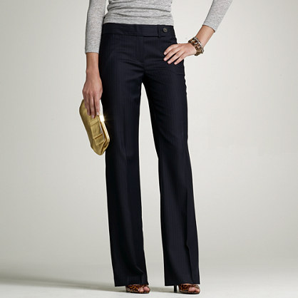 Favorite-fit Durham pant in pinstripe Super 120s
