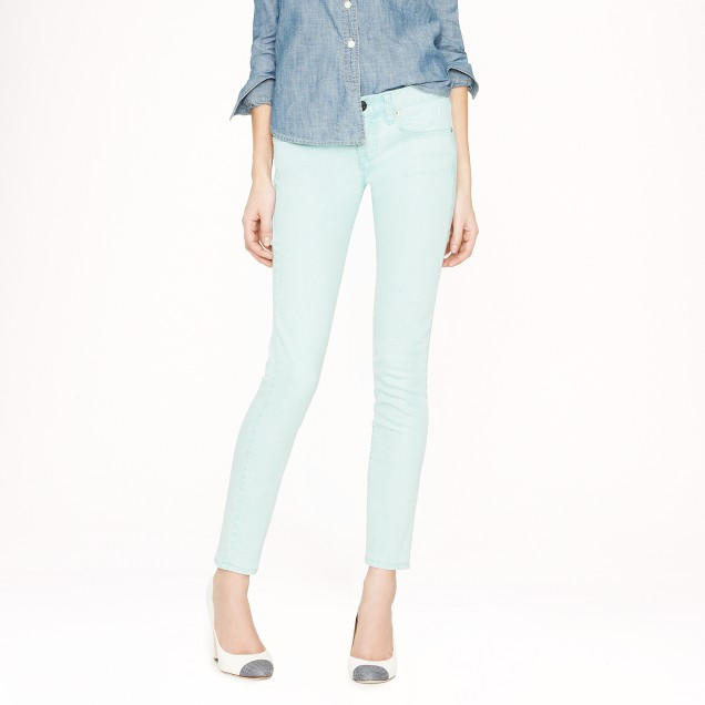 Toothpick jean in yarn-dyed denim