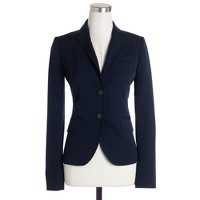Two-button jacket in wool gabardine