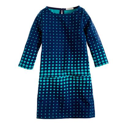 Girls' mini Jules dress in optic dot