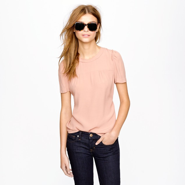 Short-sleeve crepe top