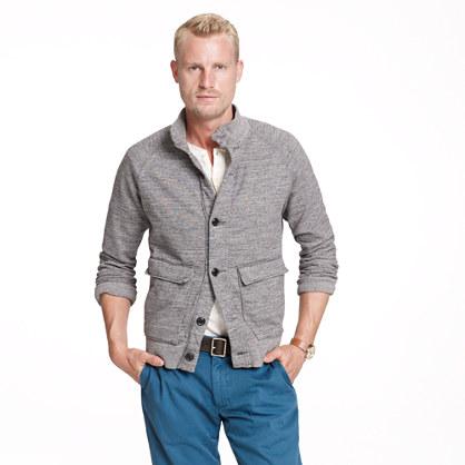 Marled sweatshirt cardigan
