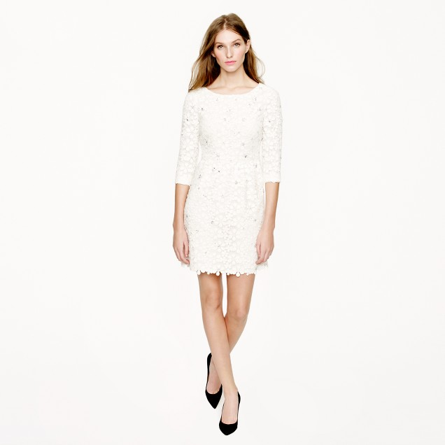 Collection jeweled daisy lace dress