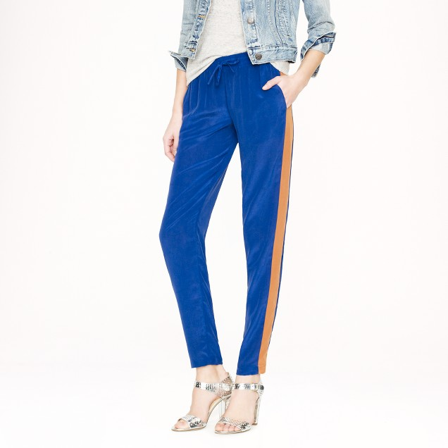 Silk colorblock pant