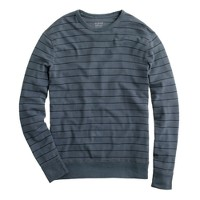 Crossknit long-sleeve crewneck tee in Dillon stripe