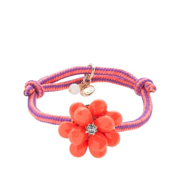 Girls' beaded rose friendship bracelet
