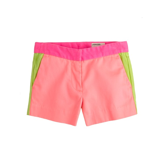 Girls' Frankie short in colorblock