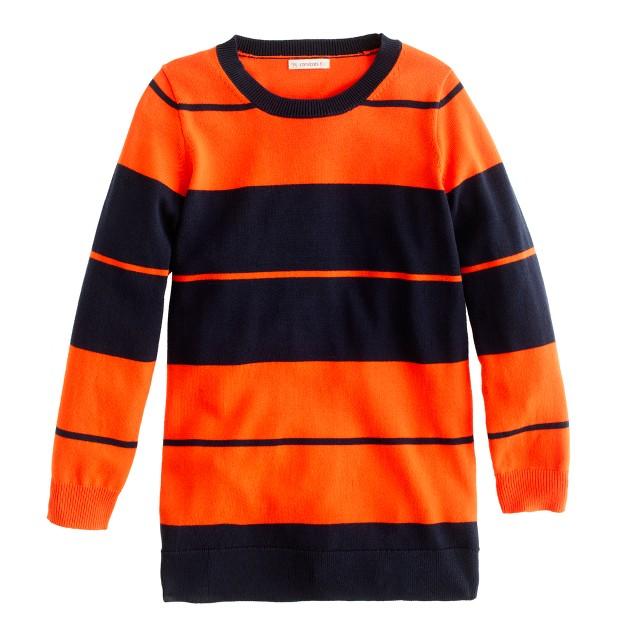 Girls' colorblock tunic sweater