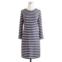 Jules dress in stripe silk twill