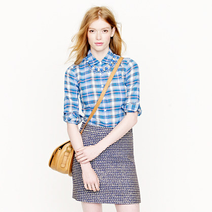 Perfect shirt in Aegean plaid