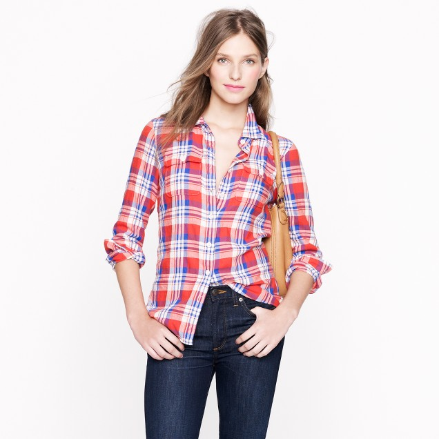 Boy shirt in red plaid