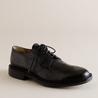 Clifton plain-front leather oxfords