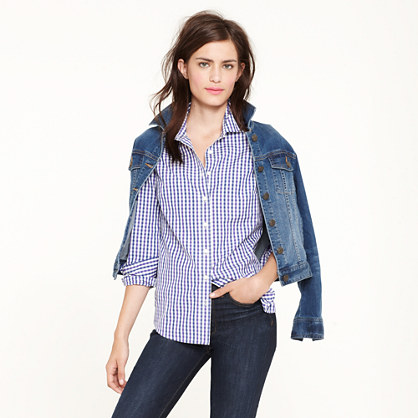 Perfect shirt in two-color gingham Thomas Mason® fabric