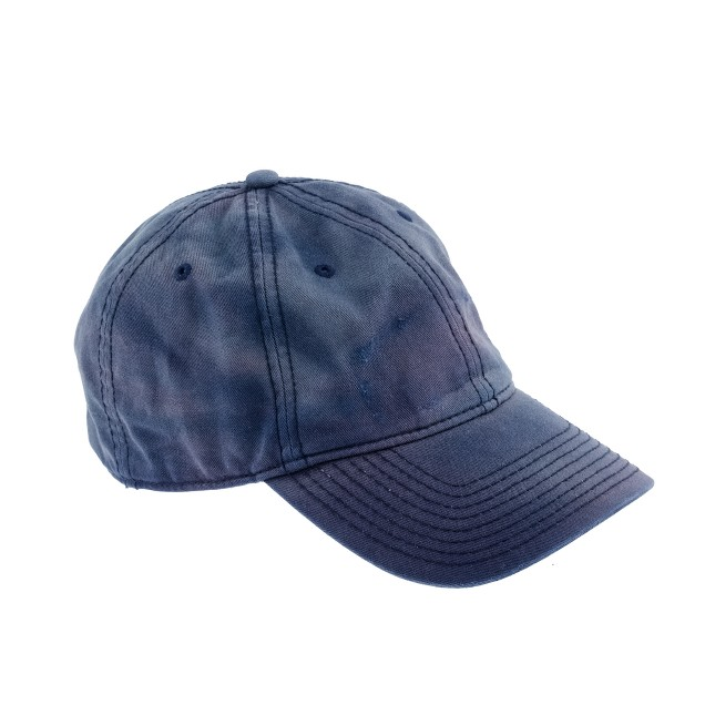 Salt-faded baseball cap